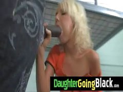 Watch my petite daughter when is ride a black cock 30