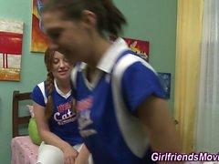 Cheerleader eating pussy