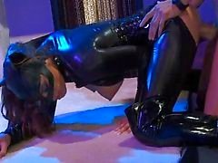 Two Catwoman girls in hardcore foursome