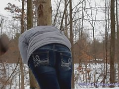 Egli le Spanked in the Woods