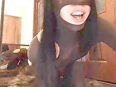 Pantyhose Girl Play