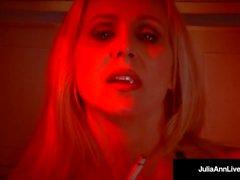 Mega MILF Julia Ann Deep Throats A Cock POV while Smoking