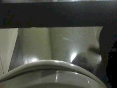 cumming in restaurant toilet