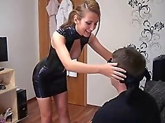Sexy German Latex Fuck with Husband