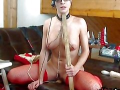 Kinky webcam session with bianca and her toys