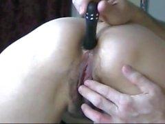 Slut MILF gets asshole spunked