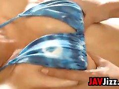 Softcore Massaging While In A Bikini