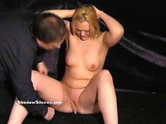 Mousetrapped blonde slaveslut Donna Denniere