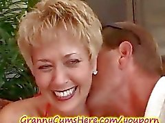 Granny has a XXX Swingers Party and ass licking