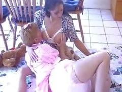 Breastfeeding - Adult baby girl