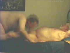 Hairy silver grandfather polar bear and son have sex