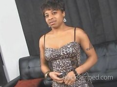 Black ghetto chick casting by pimp