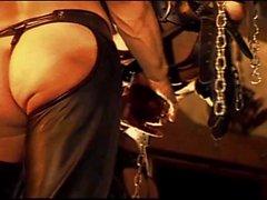 Ball bashing CBT orgy with bondage.