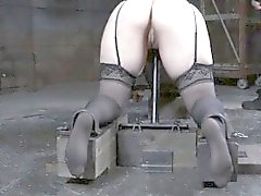 Pierced sub tiedup und spanked mit Gürtel