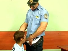 Perv Police Didn't Stop Fucking Teen Boy's Ass