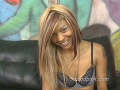Blonde black girl extreme interracial