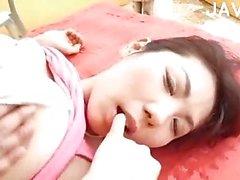 Busty Jap gets her boobs massaged