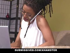 Submissived - Hot Ebony Queen With Locks Get Rocked And Cock