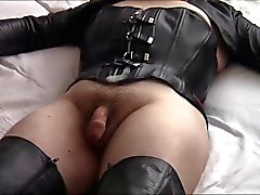 Masturbation in leather (part 4)