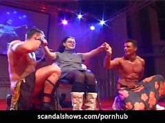 Male strippers strip down for a girl