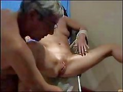 Inserted Objects in pussy for mature by husband