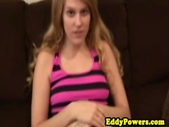 Amateur retro beauty doggystyled after bj