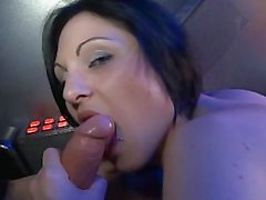French slut anal & double vaginal fuck in a peep show