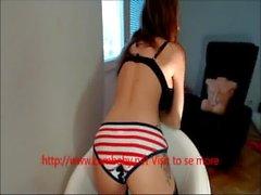 Amature teen webcam USA bikini stripping