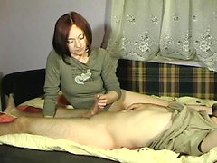 Lively redhead cougar offers her lustful husband a magnific