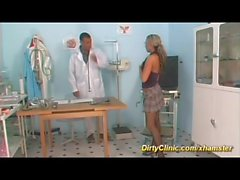busty Milf fucked in our dirty clinic