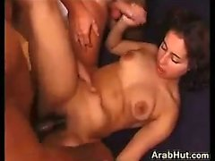 Cute Arabic Girl In A Hot Threesome