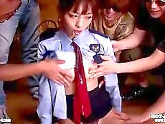 Japanese Girls attacked sweet mature woman in bath room.avi