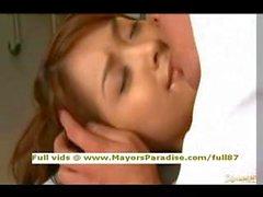 Mihiroasian teen brunette gets licked