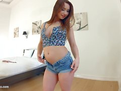 Givemepink Perky tits beauty gets herself off with a bunch of glass toys