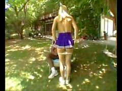 Big Butt Blonde Cheerleader