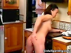 Lazy Wife Gets Spanked in The Kitchen
