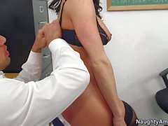Pornsharing free videoclip - Johnny Castle came to Professor Kendra Lust's classroom to ask