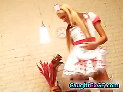 Cuty maid serving pussy exgf video part4