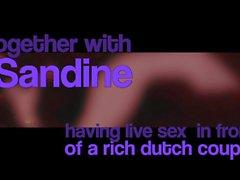 sandine & supersap doing a sex show for a dutch couple p1
