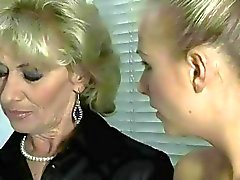 Hot grandma and sexy teen blonde