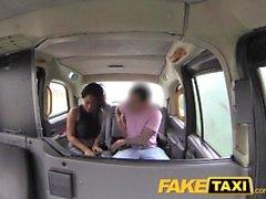 FakeTaxi Ebony babe sucks and fucks in taxi
