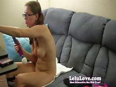 Lelu Love is a tart in glasses who masturbates for her fans