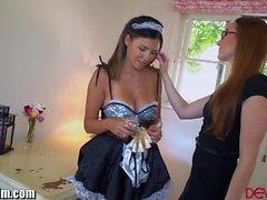 Lesbian Maid Danica Dillion Seduced by Boss