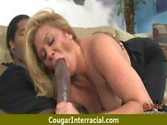Cougar fucks a huge black monster cock 18