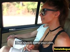 Euro taxi babe fucks passenger