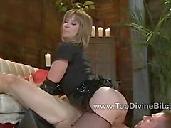 Derrick gets trained by Miss Dia Zerva