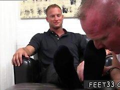 Boy long leg gay Dev Worships Jason James' Manly Feet