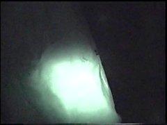 Big cock wanked and sucked in a backroom. Hidden cam.