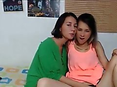 Lesbian Hot Teens Kissing and Licking On Webcam