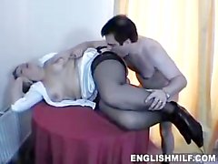 daniella english waitress gets screwed